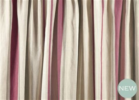 raspberry striped curtains awning stripe raspberry cotton pencil pleat ready made