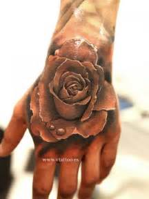 flower hand tattoo realistic flower hand rose tattoo by v tattoos