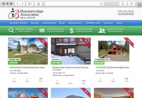 houses for sale websites breckenridge homes for sale website design