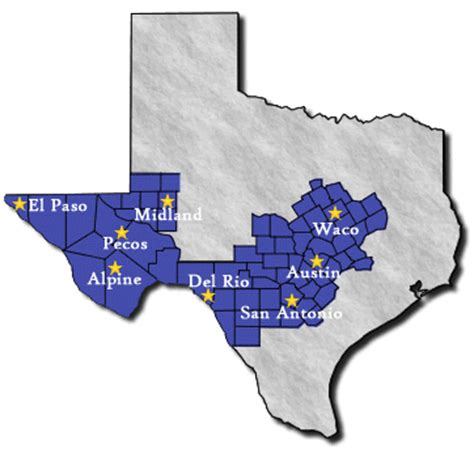 texas federal district court map offices of the western district of texas usao wdtx department of justice