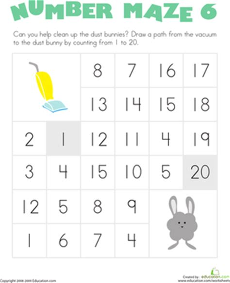 free printable number maze number maze clean up the dust bunnies worksheet