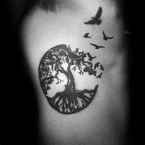 tree and bird tattoo designs 100 tree of designs for manly ink ideas