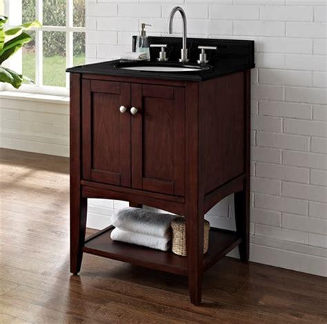 Open Shelf Bathroom Vanity Shaker Americana 24 Quot Open Shelf Vanity Habana Cherry Fairmont Designs Fairmont Designs