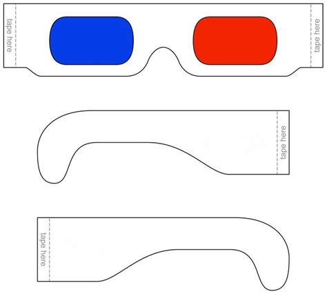 How To Make 3d Glasses Out Of Paper - print cut and glasses templates pictures to pin on