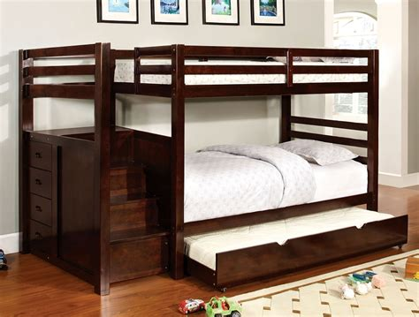 Bunk Beds With Drawers Built In by Furniture Of America Pine Ridge Bunk Bed 4