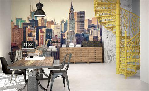 papier peint pour bureau papiers peints bureau mur aux dimensions myloview fr