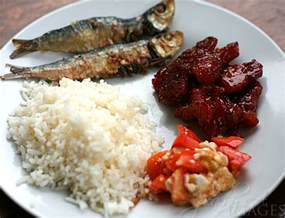Filipino Main Dish Recipe - filipino breakfast tuyo tocino salted egg and tomato the peach kitchen