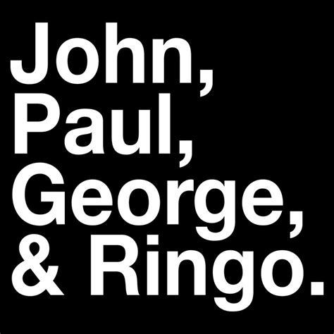 Paul George Ringo Shirts paul george ringo t shirt