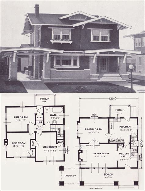 standard home plans the belmont craftsman style two story 1923 standard