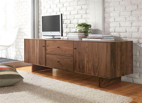 room and board media console hudson wood base media cabinet media storage living