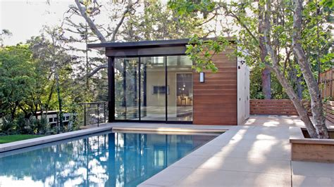 simple pool house beautiful houses brentwood residence