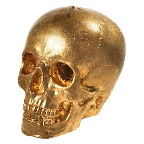 Gold Skull On