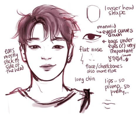 line art portrait tutorial mine bts maknae line jimin itried bangtan jungkook