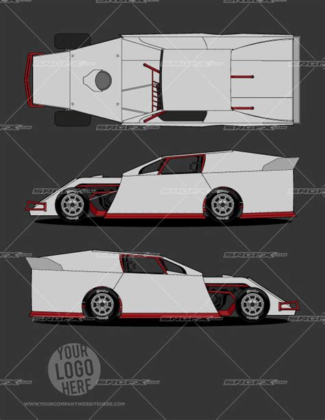 racing car template dirt modified template 1 srgfx