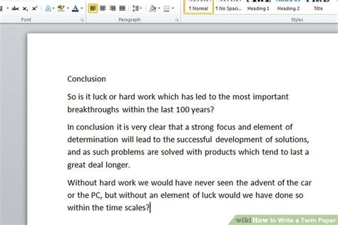Steps In Term Paper - how to write a term paper with exle papers
