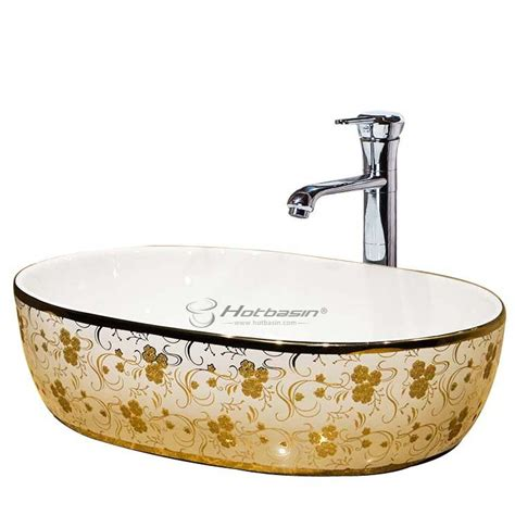 deep bathroom sinks deep oval gold electroplating ceramic bathroom sink