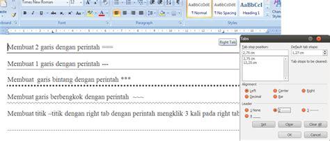 cara membuat garis di microsoft office word 2007 cara cepat membuat beberapa garis pada microsoft word 2007