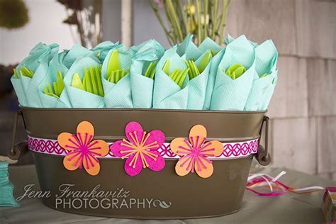 hawaiian wedding shower favors with silhouette cameo luau themed bridal shower