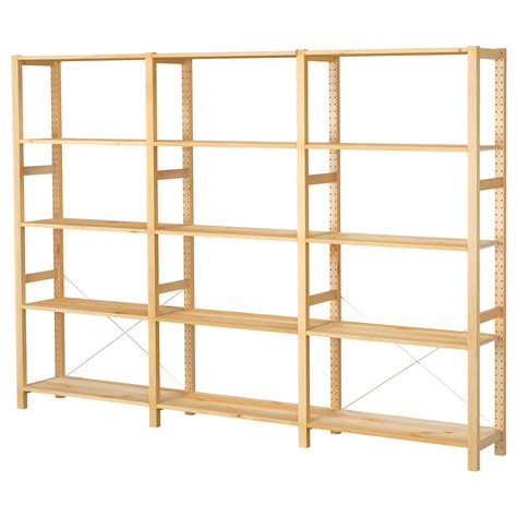 ivar 3 sections shelves pine 259x30x179 cm ikea