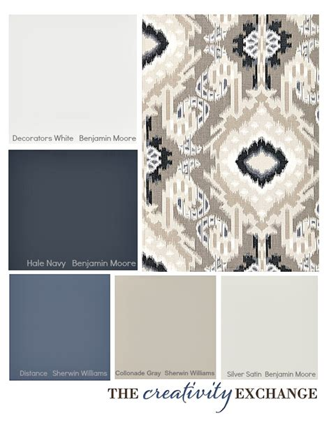 Color Palette Inspiration | choosing a paint color palette using fabric inspiration