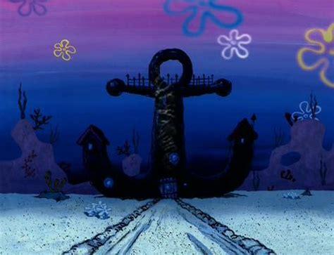 mr krabs house image mr krabs house at night time jpg encyclopedia spongebobia fandom powered