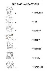 emotions worksheet davezan