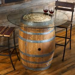 Wine barrel table is the kind of table that is a bit unique