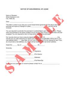 notice of non renewal for lease form fill