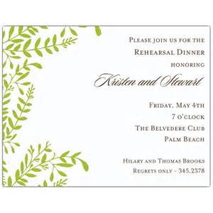 moss vines rehearsal dinner invitations paperstyle