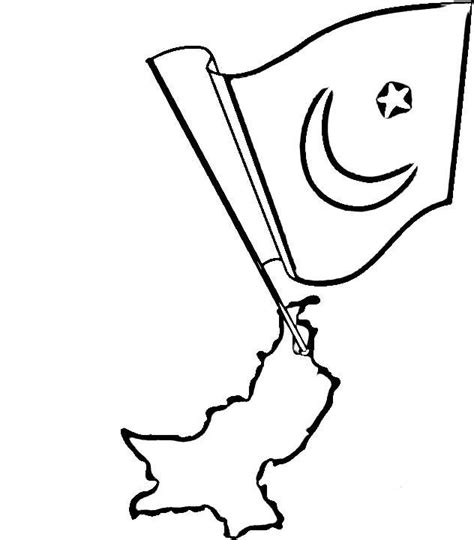 Pakistan Flag Coloring Page 17 Best Images About Countries Coloring On Pinterest by Pakistan Flag Coloring Page