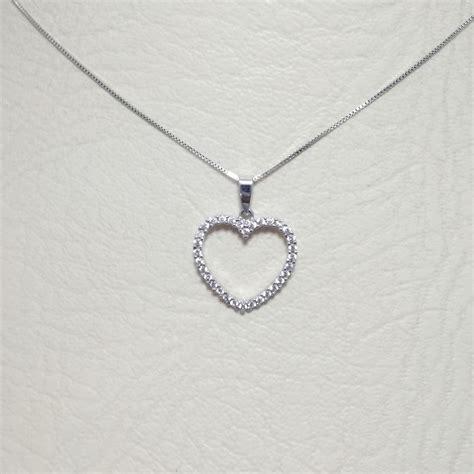 cadena de oro blanco para dama cadena para dama dije coraz 243 n con circones diamantes en