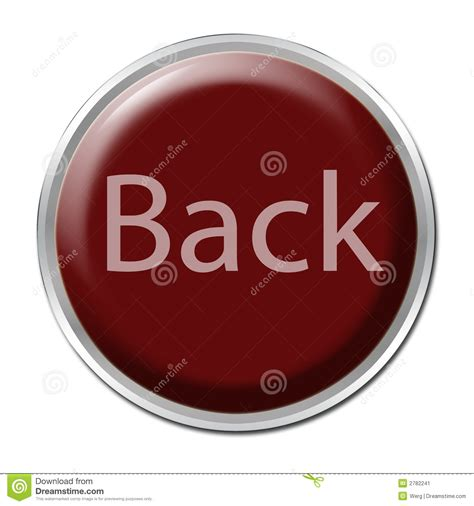 Back In The back button stock illustration image of push