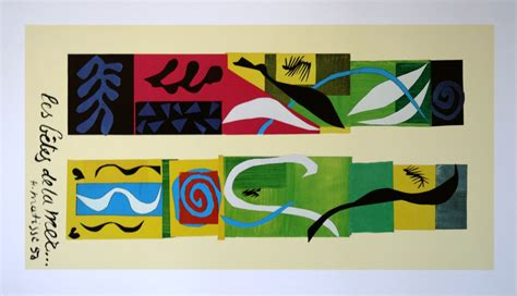Original Authentic La Mer Collection 100 Guarantee 18 henri matisse beasts of the sea 1950 reproduction print poster