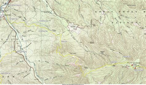 gsmnp trail map great smoky mountains national park mount leconte
