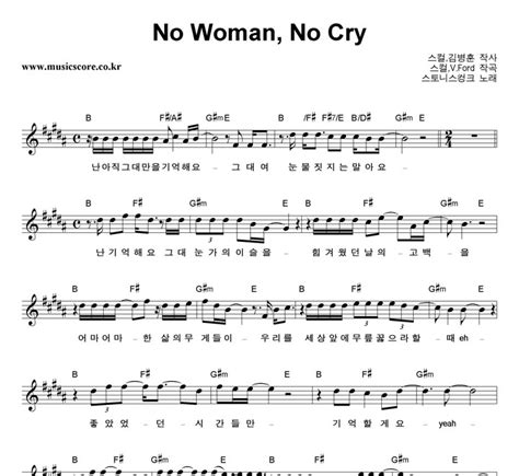 ukulele tutorial no woman no cry 스토니스컹크 no woman no cry 악보