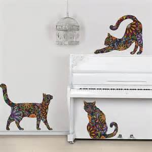 pics photos cat wall stickers long tree branch sticker animals cats and dogs art decal