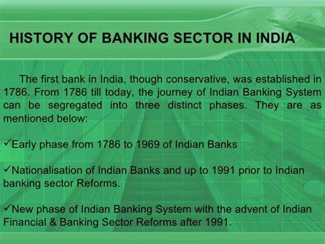Essay On History Of Indian Banking by Banking Sector
