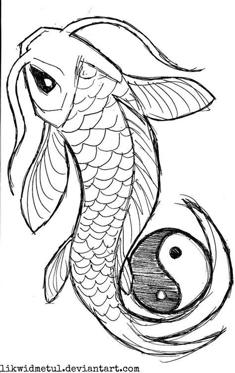 koi tattoo stencils black koi with yin yang tattoo stencil by likwidmetul