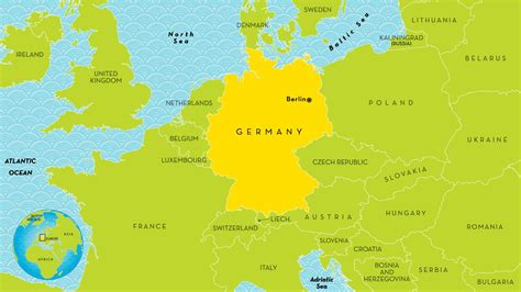 germany map and surrounding countries map of germany and surrounding countries germany and