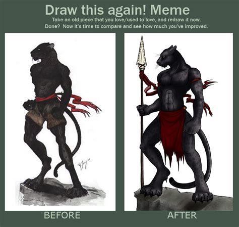 Draw This Again Meme Blank - draw it again meme pantherman by shadowsmyst on deviantart