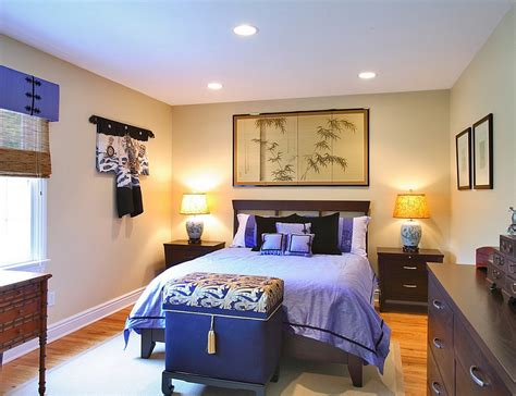 japanese themed bedroom asian inspired bedrooms design ideas pictures 11915 | Plush purple in the Chinese themed bedroom
