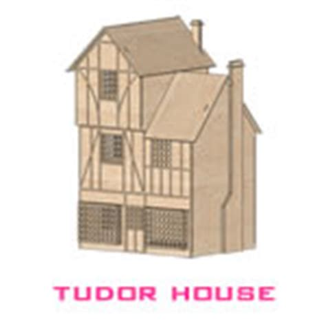 tudor house template buildings laser cut model templates