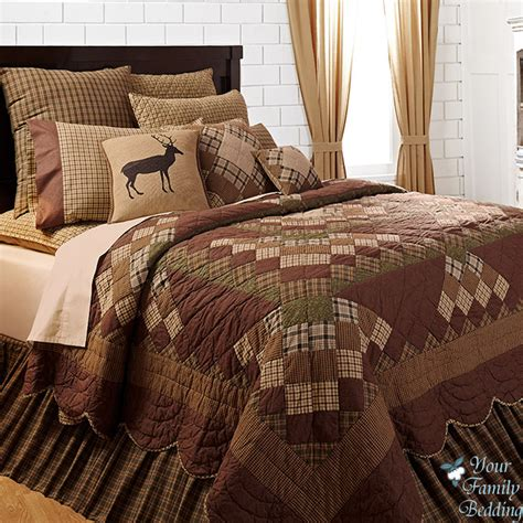 California King Quilt Bedding Sets Country Cabin Patchwork Cal King Size Quality Quilt Bedding Set Ebay