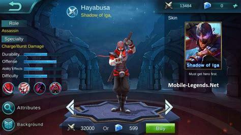Mobile Legend Hayabusa The Blues hayabusa high ad build mobile legends