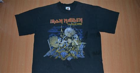 H M Tshirt Anak Whale Limited anak liar rocks iron maiden band live ater t shirt