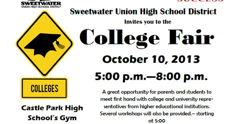 Pomona College Letters Of Recommendation Sweetwater High Counseling Center Suhsd 2013 College Fair Be There
