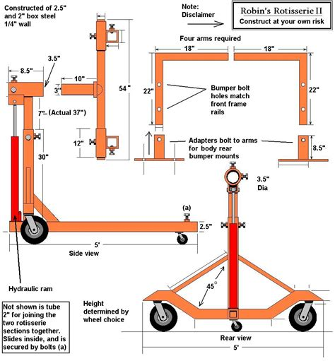 car plans auto rotisserie build or buy motor castom pinterest welding projects cars and metals