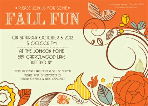 6 best images of fall printable party invitations fall