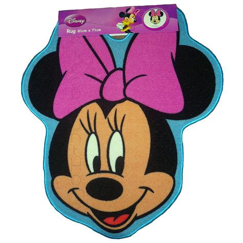 disney minnie mouse shaped floor rug mat new ebay