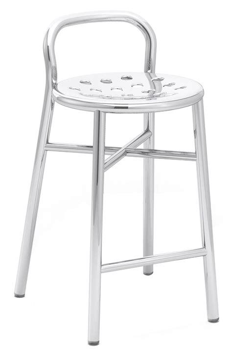 outdoor barhocker pipe bar stool h 67 cm metal polished aluminium by magis